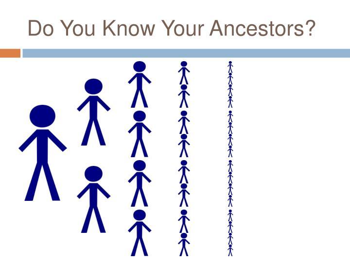 Do You Know Your Ancestors?