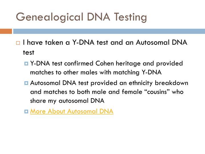 Genealogical DNA Testing
