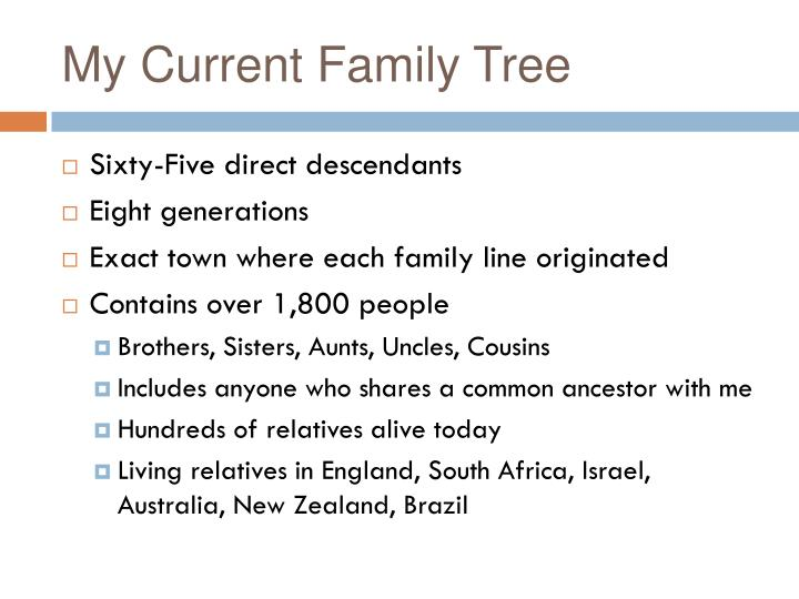 My Current Family Tree