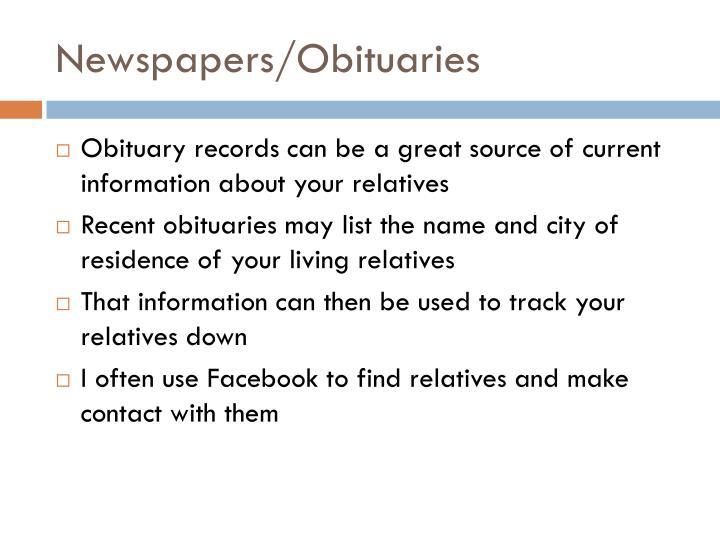 Newspapers/Obituaries