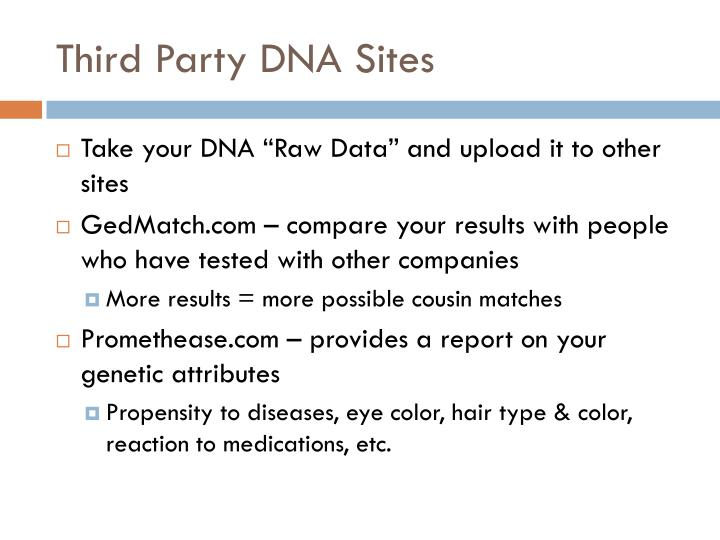 Third Party DNA Sites