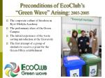 preconditions of ecoclub s green wave arising 2003 2005