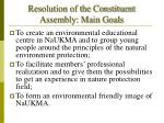 resolution of the constituent assembly main goals