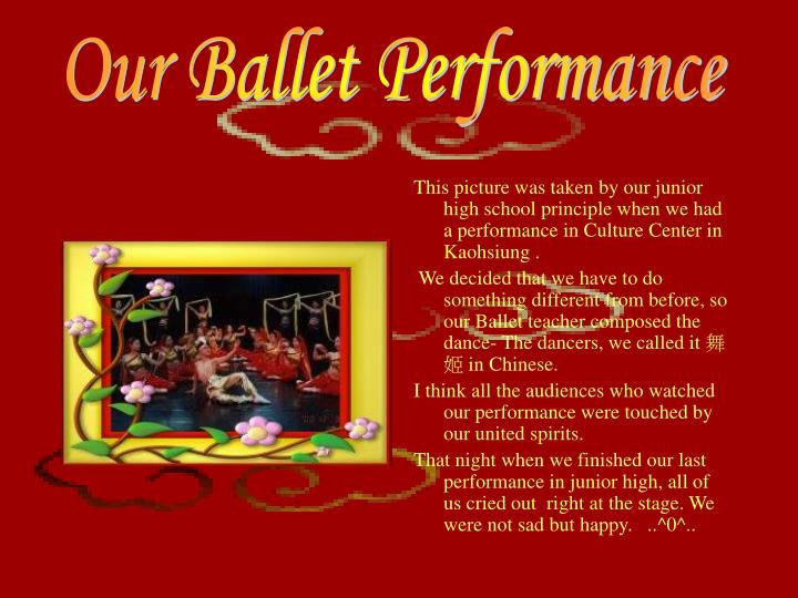 Our Ballet Performance