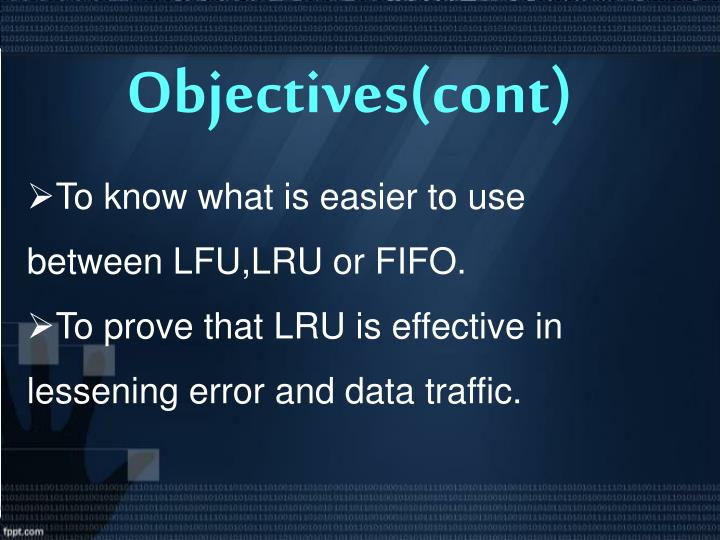 Objectives(cont)