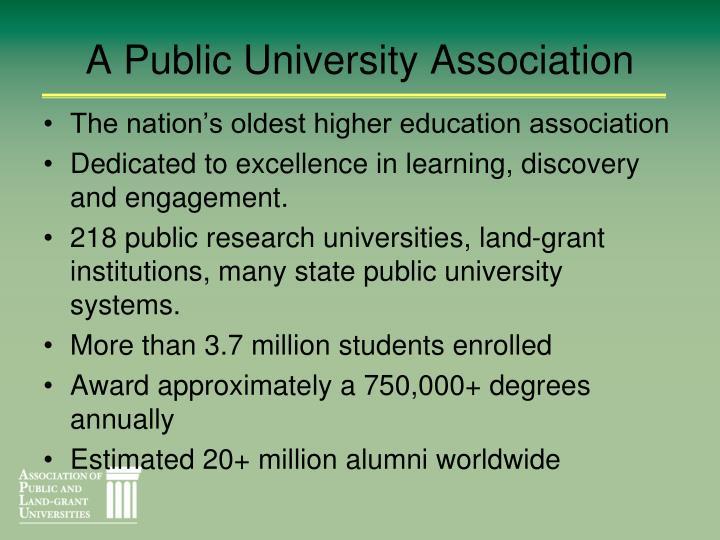 A public university association