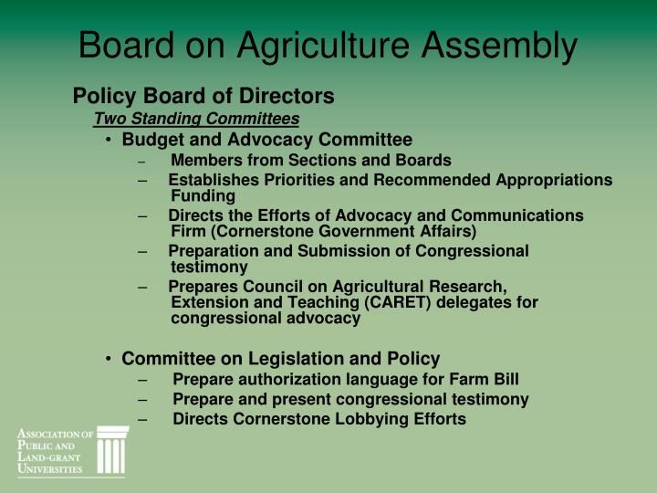 Board on Agriculture Assembly