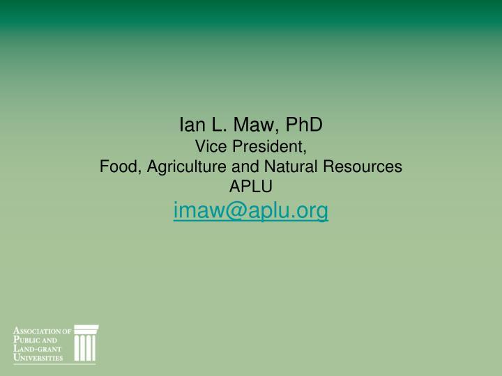 Ian L. Maw, PhD