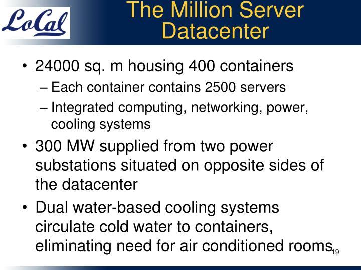 The Million Server Datacenter
