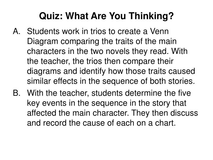 Quiz: What Are You Thinking?