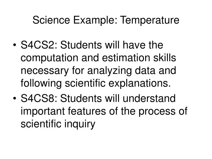 Science Example: Temperature