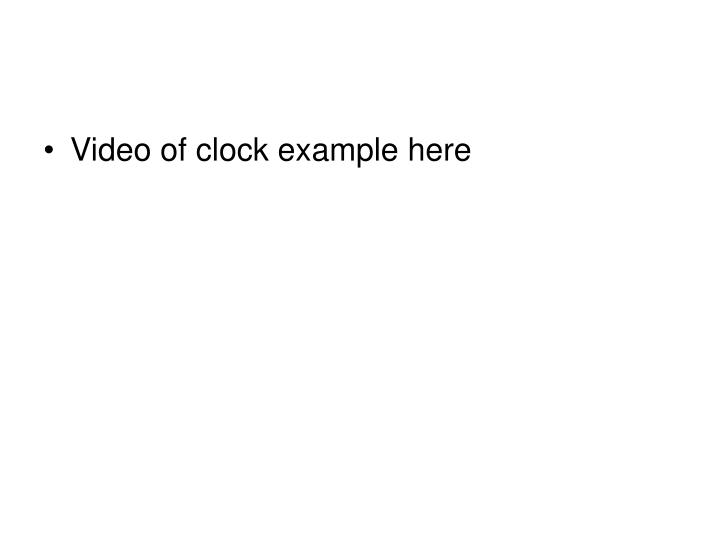 Video of clock example here