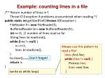 example counting lines in a file