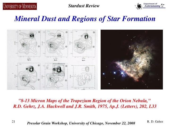 Mineral Dust and Regions of Star Formation