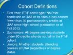 cohort definitions