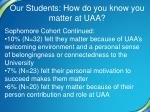our students how do you know you matter at uaa3