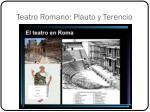 teatro romano plauto y terencio