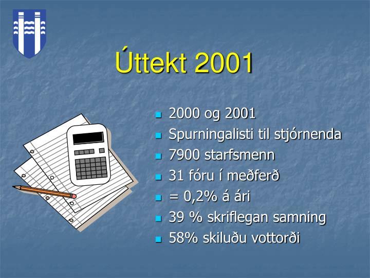 Úttekt 2001
