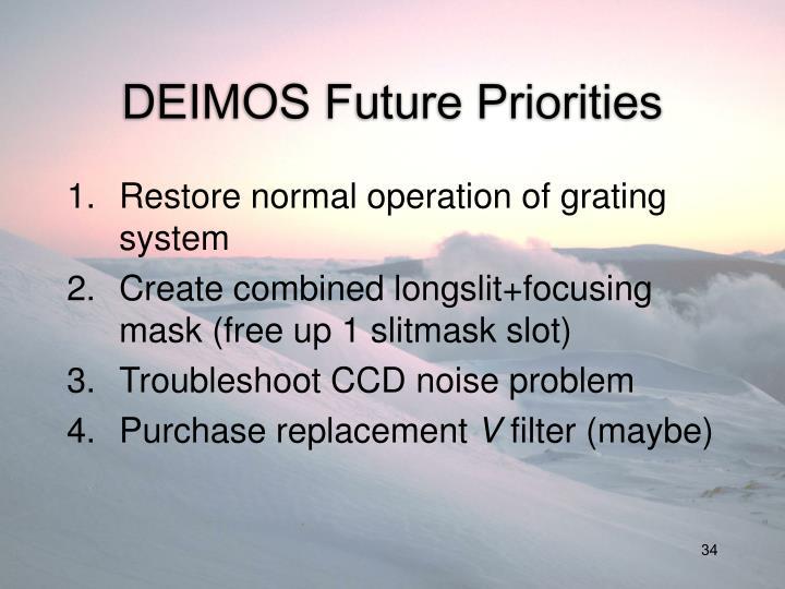 DEIMOS Future Priorities