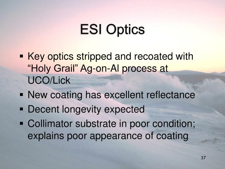 ESI Optics