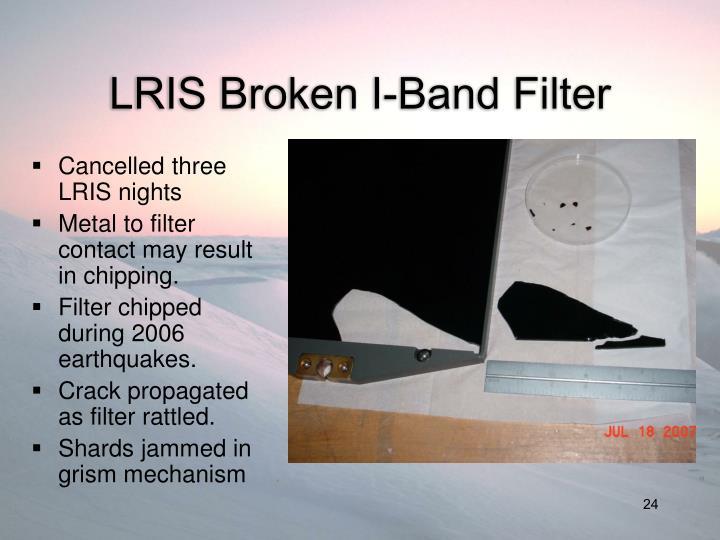 LRIS Broken I-Band Filter