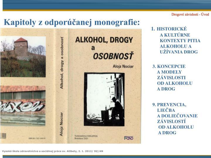 Kapitoly z odporúčanej monografie: