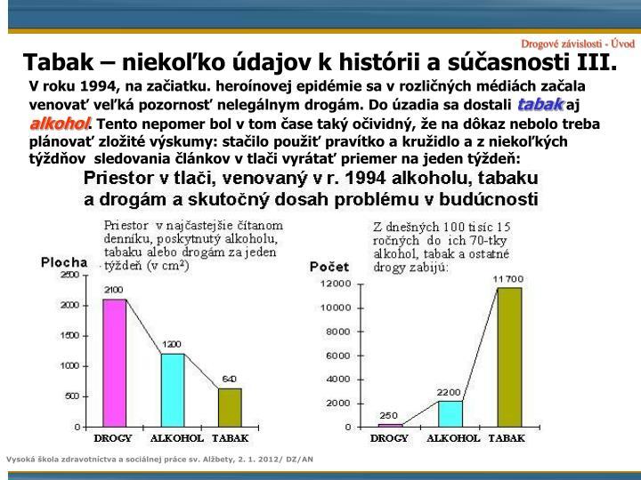 Tabak – niekoľko údajov k histórii a súčasnosti III.
