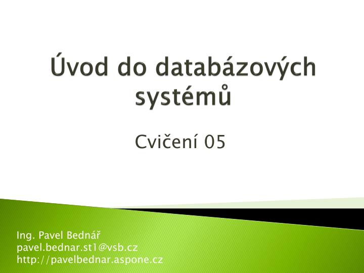 vod do datab zov ch syst m