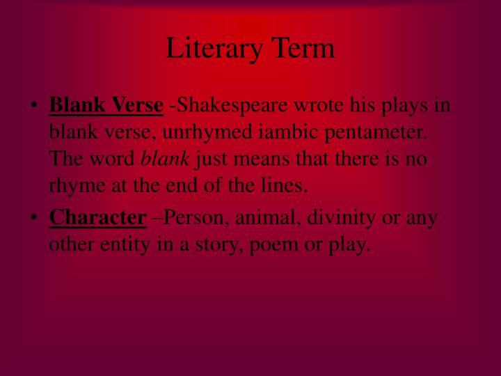 Literary Term