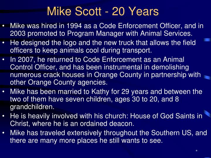 Mike Scott - 20 Years