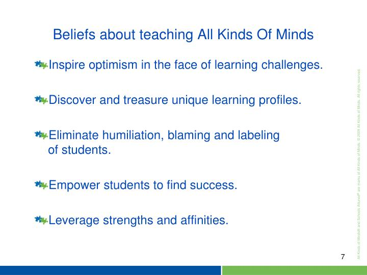 Inspire optimism in the face of learning challenges.