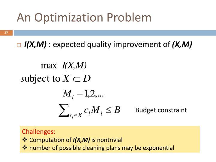 An Optimization Problem