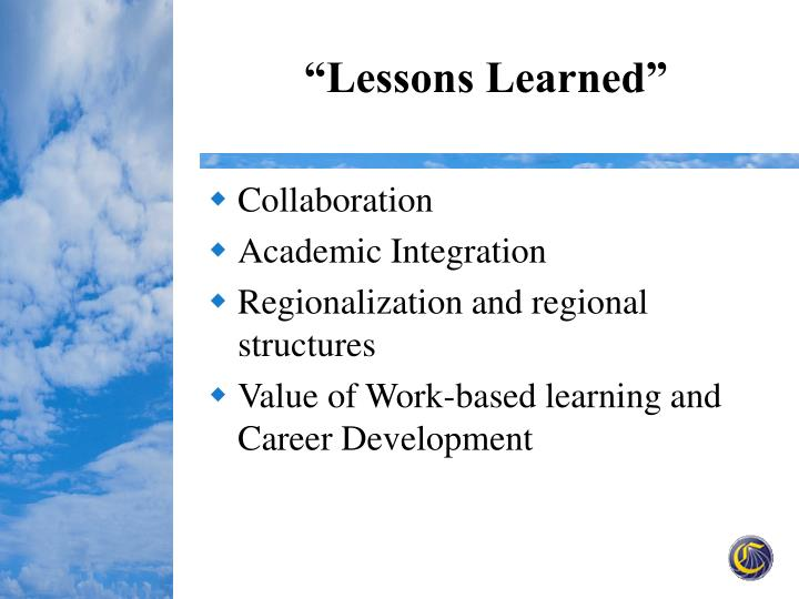 """""""Lessons Learned"""""""