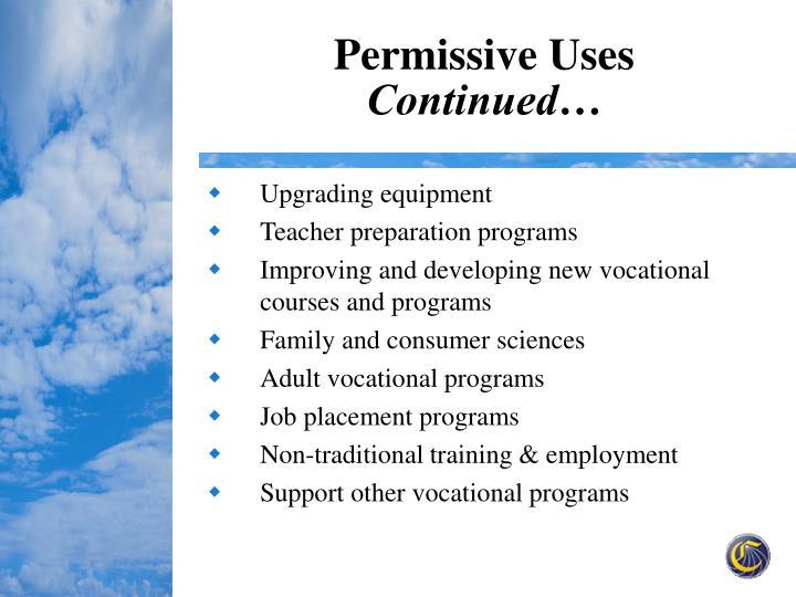 Permissive Uses