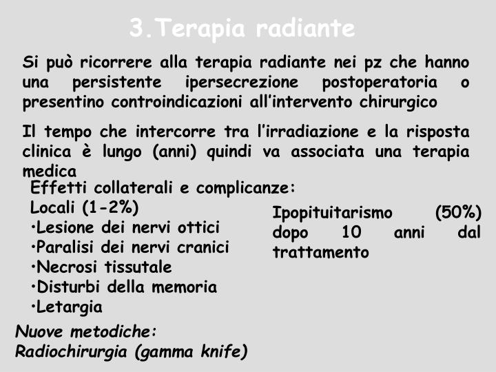 3.Terapia radiante