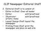 clip newspaper editorial staff1
