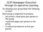 clip newspaper executed through co operative learning1