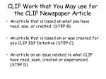clip work that you may use for the clip newspaper article