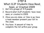 step b what clip students have read seen or created 2009