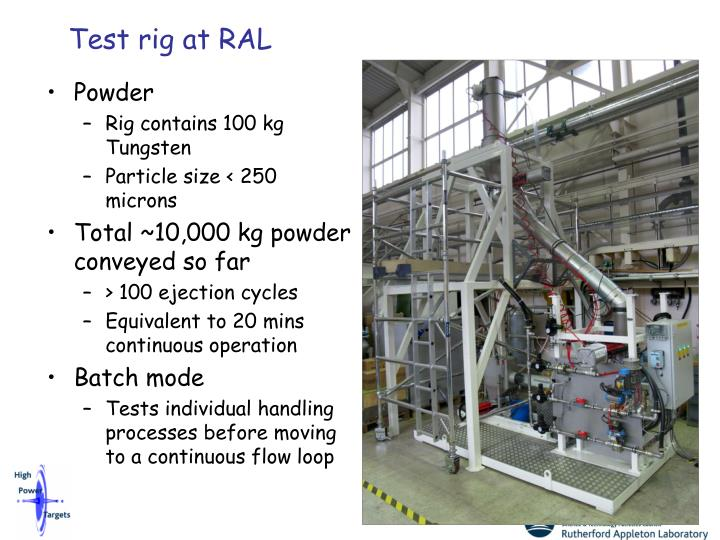 Test rig at RAL