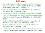 lsc papers