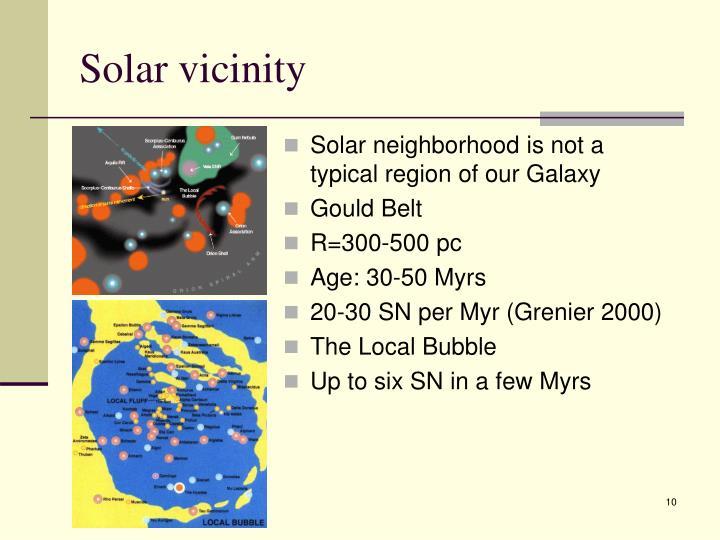 Solar vicinity