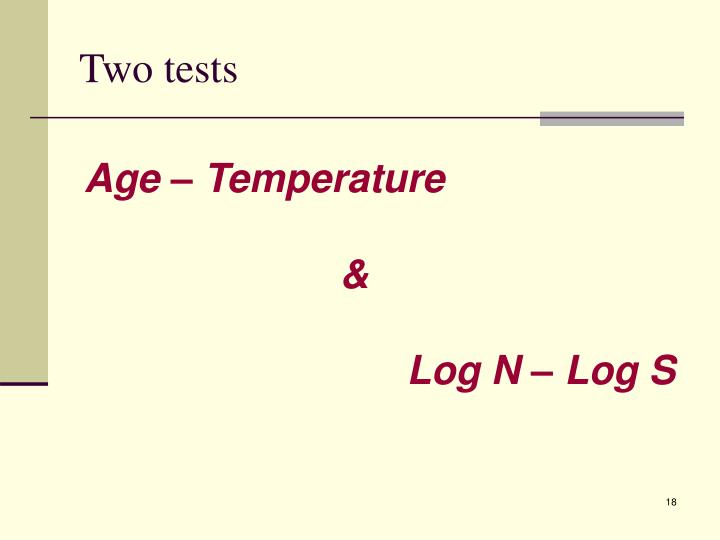 Two tests
