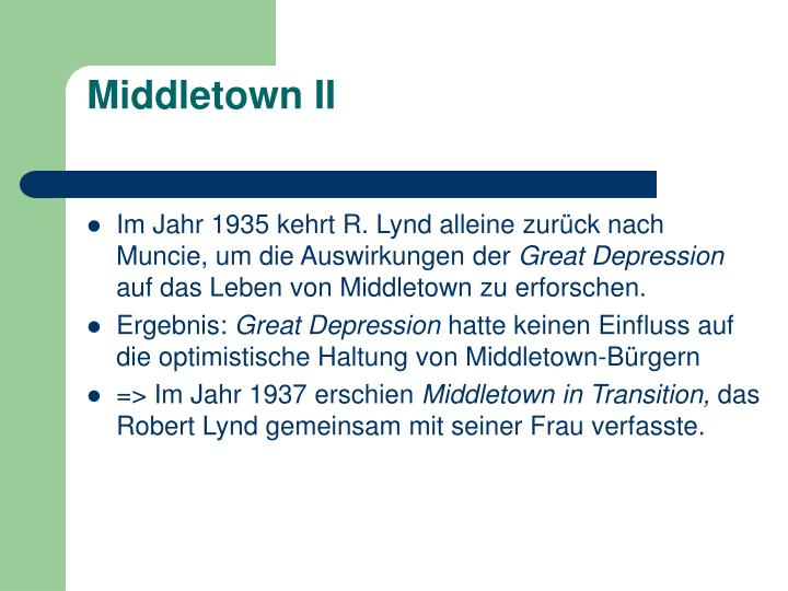 Middletown II