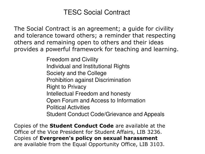 TESC Social Contract
