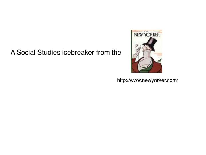 A Social Studies icebreaker from the
