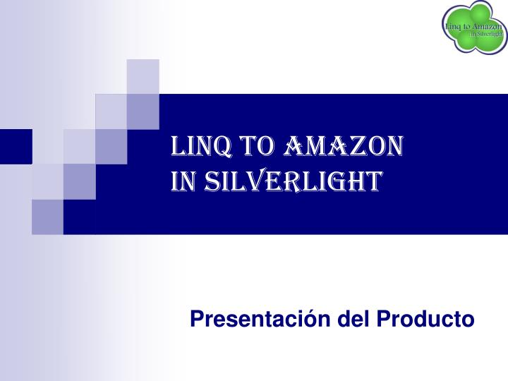 linq to amazon in silverlight n.