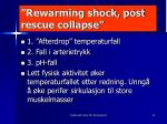 rewarming shock post rescue collapse