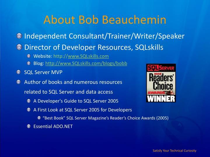 About bob beauchemin