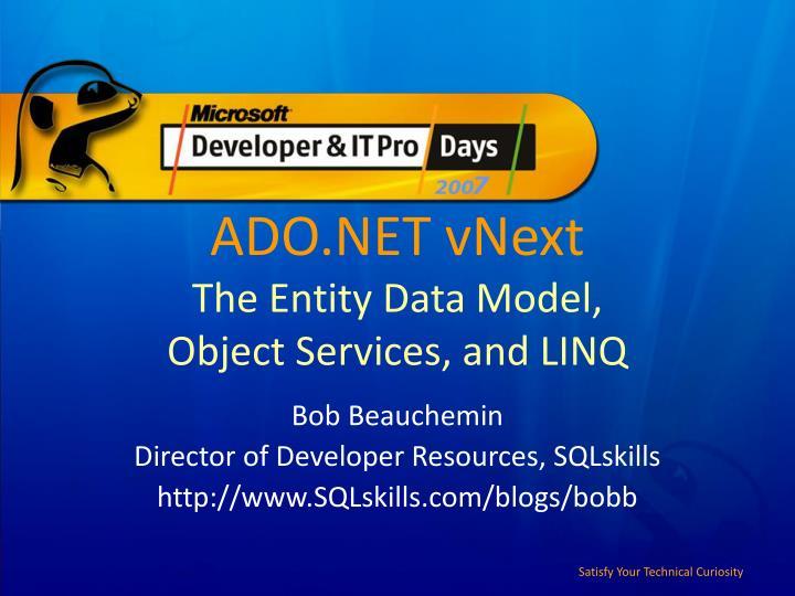 ADO.NET vNext